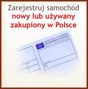Kliknij aby zarejestrować samochód nowy lub używany