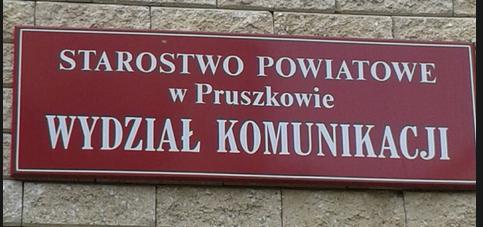 Starostwo Powiatowe w Pruszkowie Wydział Komunikacji