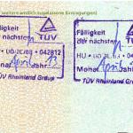 niemiecki dowód rejestracyjny nachste HU nastepne badanie